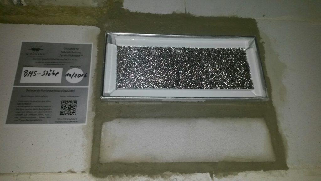 Einbau Kabelbox